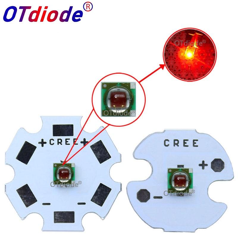 10PCS Original 1W - 3W Cree  XPE XP-E Red Color 3535 620-630nm 2.1-2.5V 350-1000MA Led Beads Plant Grow Led Emitter Lamp Light