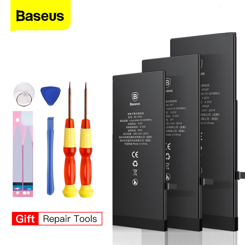 Baseus Lithium Battery For IPhone 6s 6 5s 7 8 5 5c 6plus 7plus 8plus Replacement Quality Bateria For IPhone6 With Free Tools