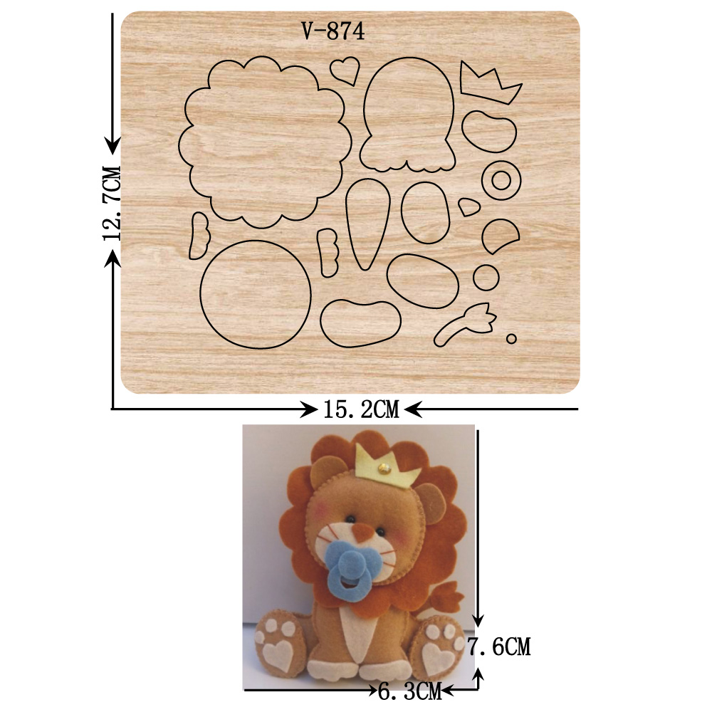 New Lion Wooden Dies Cutting Dies For Scrapbooking /Multiple Sizes /V-874