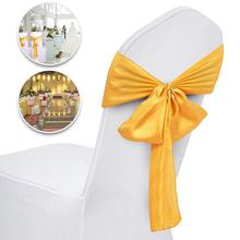 VEVOR 100PCS Satin Chair Cover Bow Sashes Decoration Chair Cover Sash Chairs Tie Bands for Wedding Banquet Party Celebrations