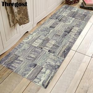 Image 5 - Thregost Striped Printed Long Floor Mats 3D Carpet Prayer Rugs Muslim Indoor Doormat Memory Foam Soft Kitchen Carpets