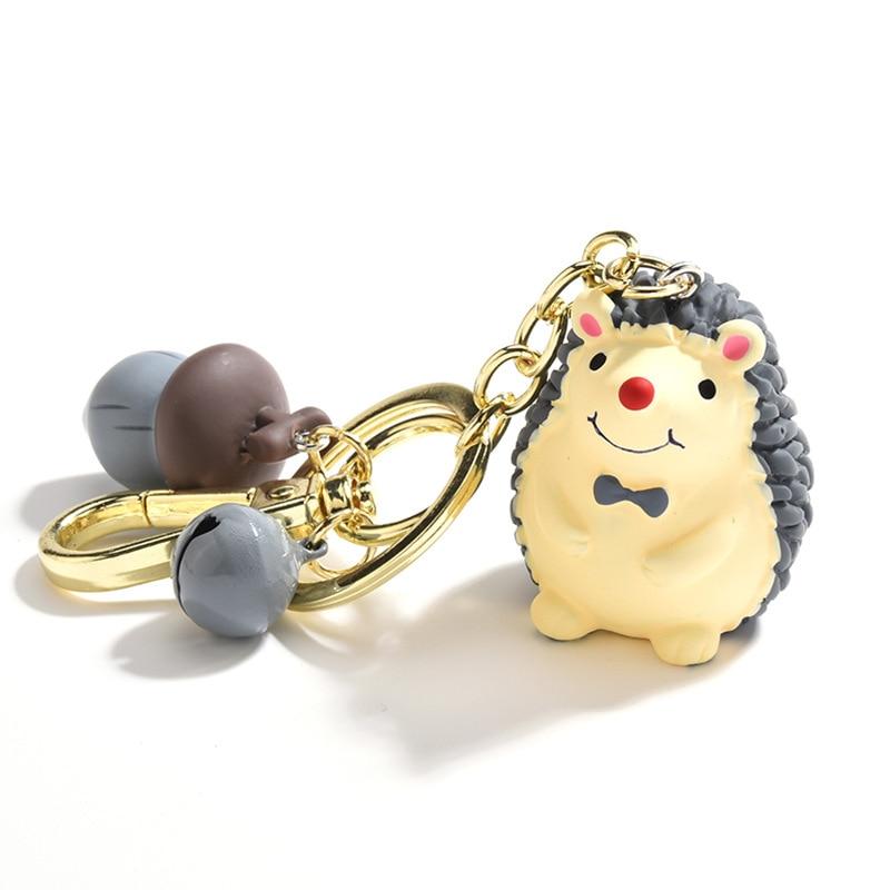 Новый Модный маленький брелок для ключей Ежик милый и сосна