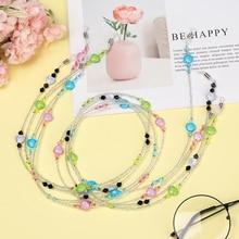 1Pc Outdoor Sports Glasses Rope Heart-shaped Glass Glasses Chain Fashion Glasses Lanyard Anti-slip C