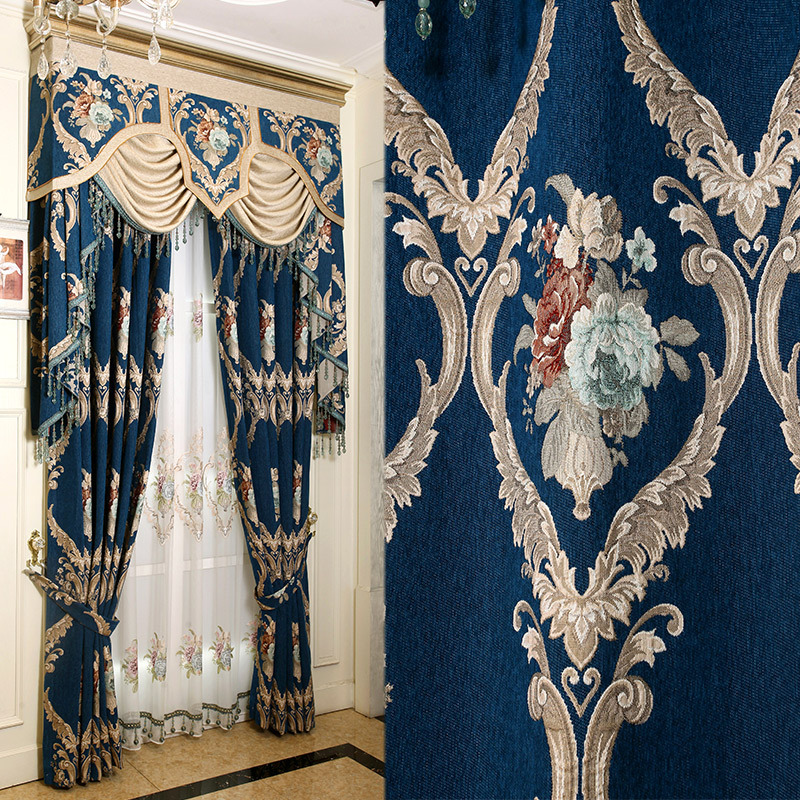 Jacquard Curtains For Living Room