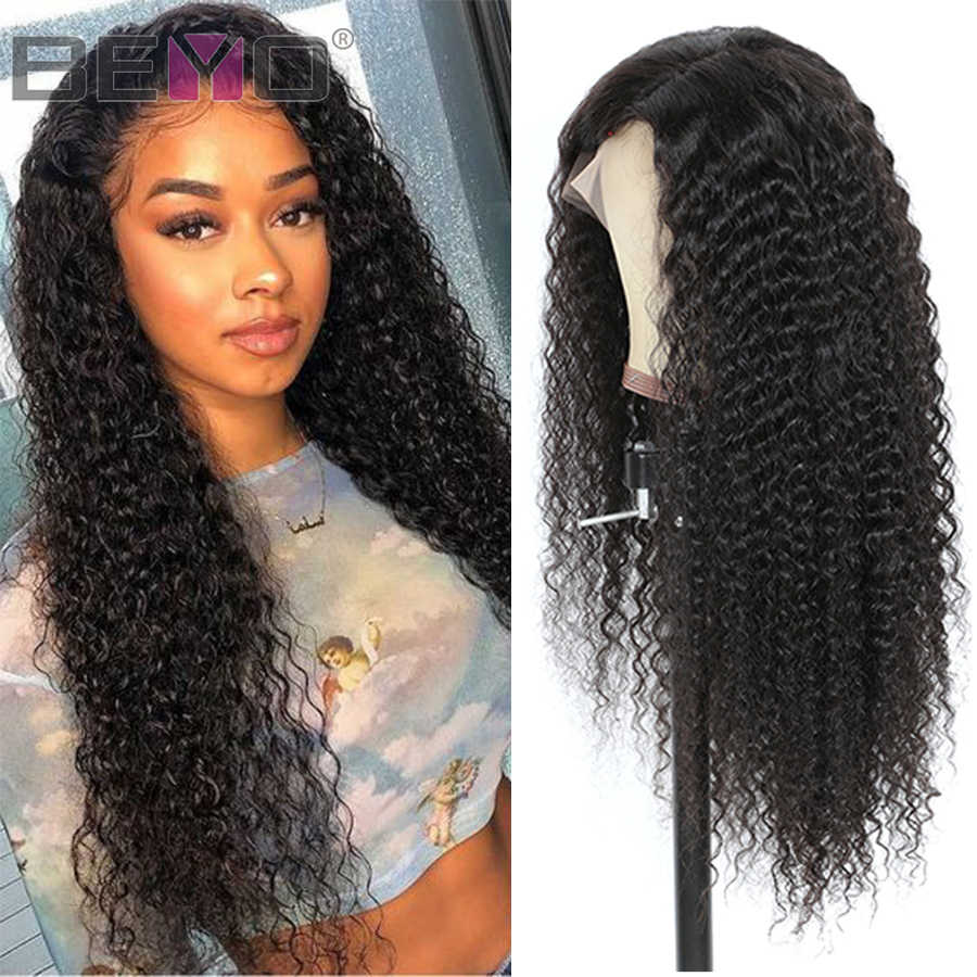 Brazilian Deep Curly Human Hair Wigs 360 Lace Frontal Wig Pre-Plucked Remy Lace Wigs 150%/180% Density 8-24 inch Beyo Hair