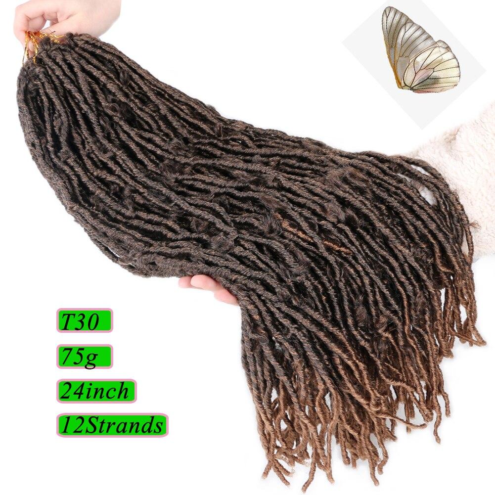 locs trança extensões de cabelo falso locs gancho tranças