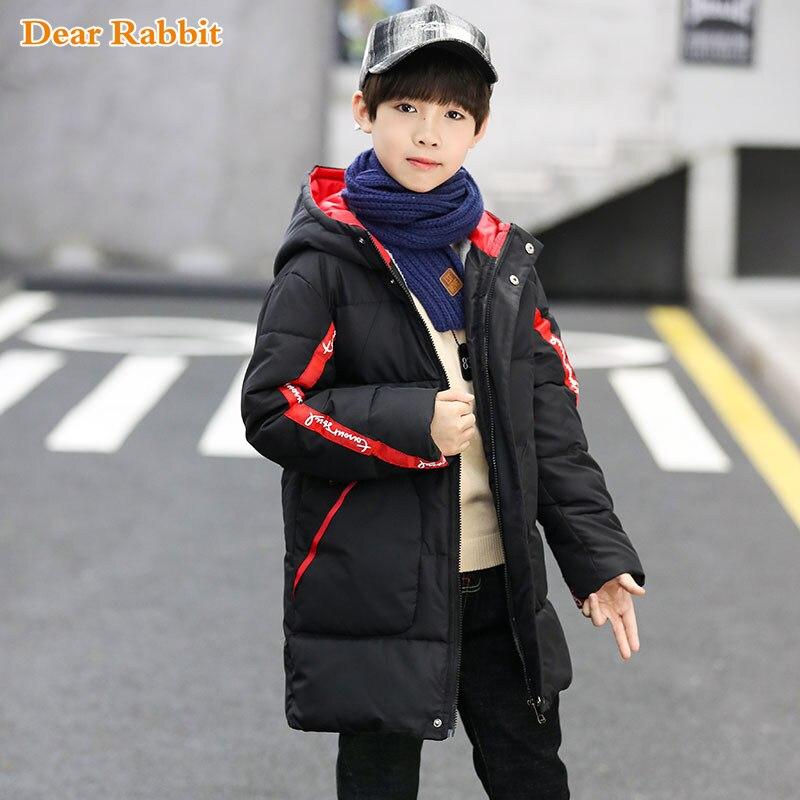 -30 Degree Children Cold Winter Plus Velvet Jackets For Boys Clothes Snowsuit Kids Parka Warm Thicken Coat Teen Outwear Clothing