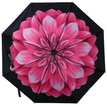 Kobiety parasol na słońce i deszcz potrójne czarna powłoka ochrona przeciwsłoneczna ochrona UV wiatroszczelny silny parasol przeciwdeszczowy tanie i dobre opinie 48-53 cm promień Słoneczne i deszczowe parasol Metal Pongee Nie-automatyczny parasol Składane Dorosłych Trzy składane parasol