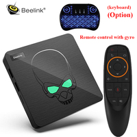 In Stock Beelink GT King Android 9.0 TV Box Amlogic S922X 4GB LPDDR4 64GB ROM 2.4G+5.8G WiFi BT 4.1 4K 2.4G Voice Remote Control