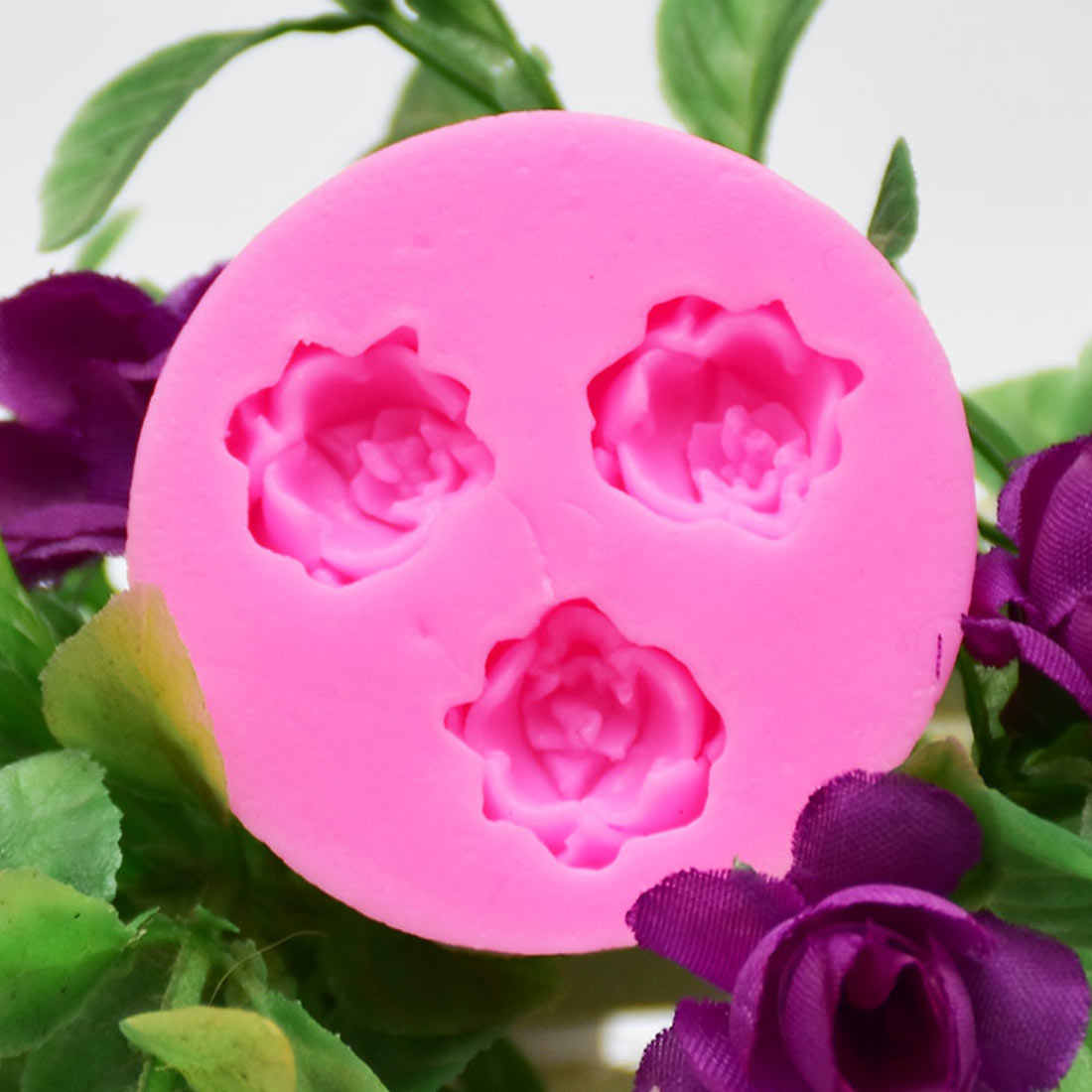 1 قطعة 3D الخبز فندان العفن 3D روز الزهور قالب من السيليكون الشوكولاته الزفاف كعكة تزيين أدوات