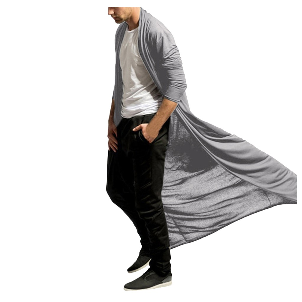 Ha4a2a9fdf9c54f4d85944af03de3d76cV Fashion steampunk Men Cardigans 2020 Autumn Casual Slim Long streetwear Shirt trench Long Coat Outerwear Plus Size free shiping