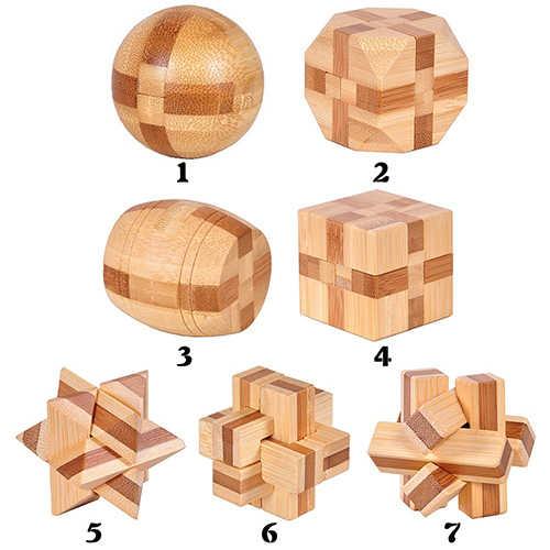 Drewniana układanka Kongming łamigłówka Puzzle dzieci dorośli zabawka do gry edukacyjnej nadaje się zarówno dla dzieci, jak i dorosłych idealny prezent