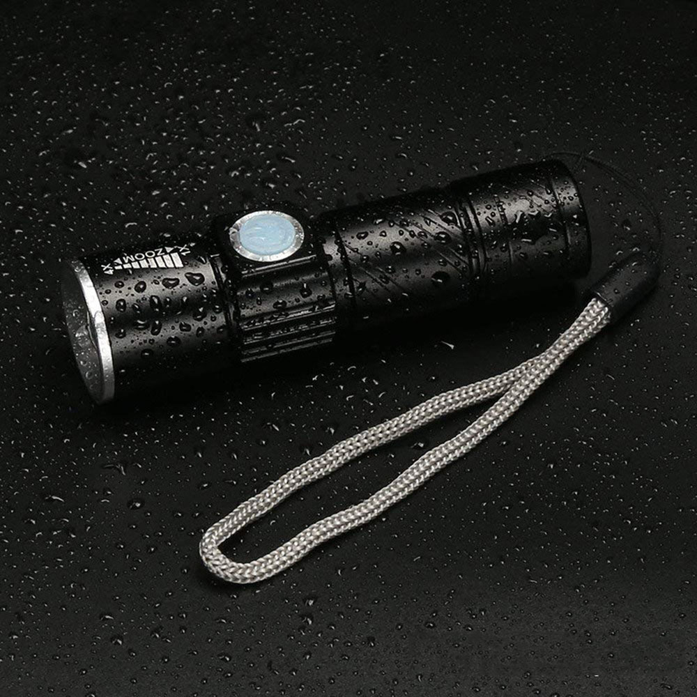 USB Built-in battery Rechargeable lasting Flashlight Lights Outdoors