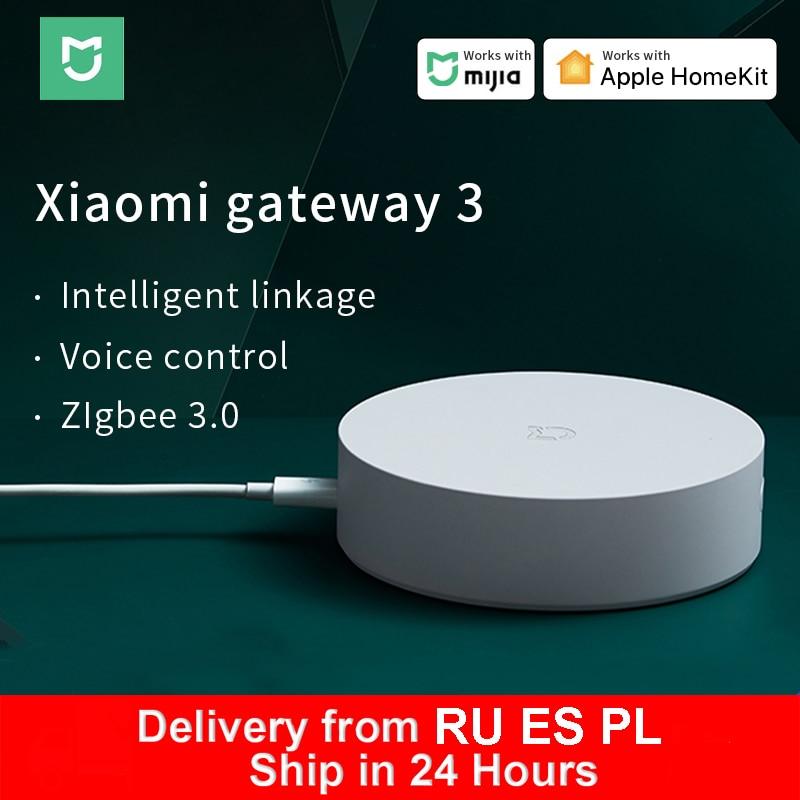 Умный Многофункциональный шлюз Xiaomi 3 Bluetooth Zigbee WiFi концентратор дистанционное управление RGB радио Поддержка Apple Homekit Mi Home