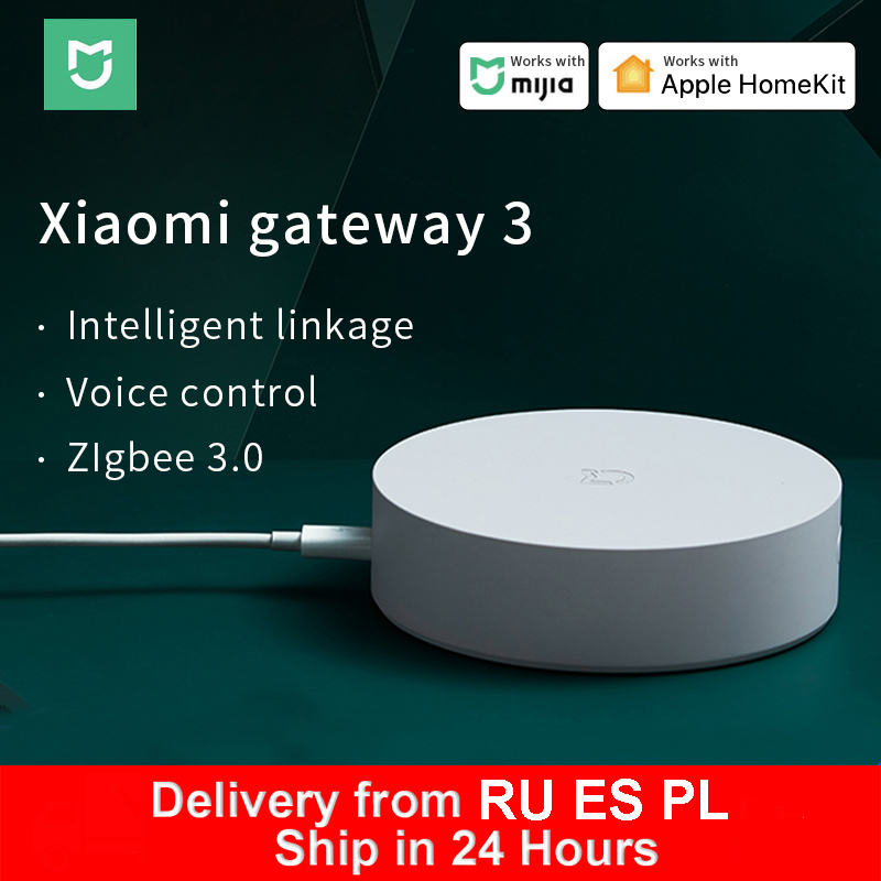 Xiaomi inteligente multifuncional gateway 3 bluetooth zigbee wifi hub controle remoto rgb rádio suporte apple homekit mi casa