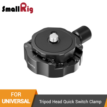 SmallRig Arca Swiss Style Tripod Head Quick Switch Clamp With Plate For Video Shooting Tripod Quick Release Plate -2469 sirui va 5 fluid video head with arca swiss compatible quick release plate