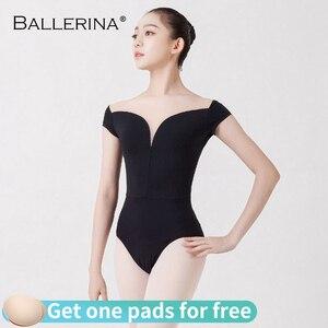 Image 2 - バレエ練習レオタード女性のためのaerialistダンス衣装半袖体操レオタードadultoバレリーナ5729