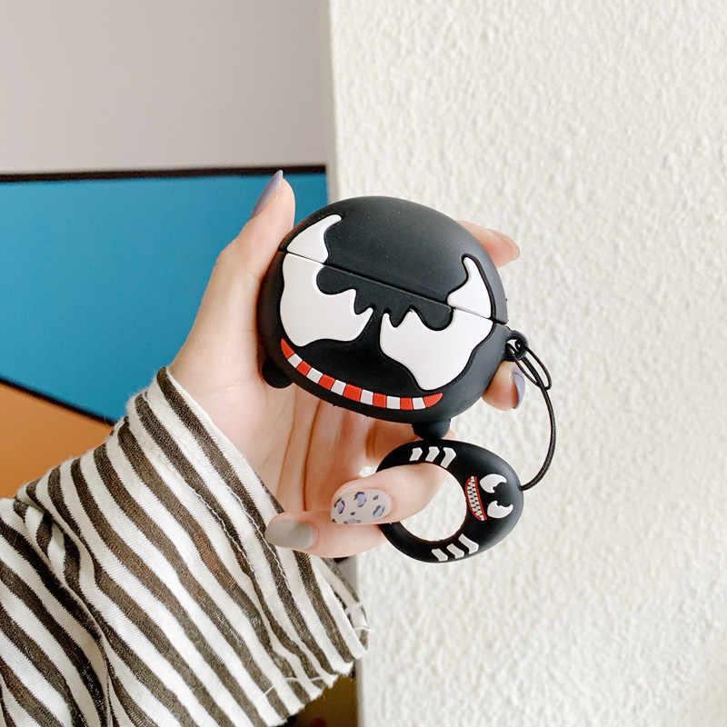 かわいい漫画バットマンアメリカキャプテンスパイダーマンヴェヘッドフォン Apple の Airpods プロ 3 アベンジャーズシリコーンイヤホン入り江