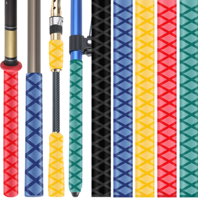 TAKE-EASY 1m rurka termokurczliwa wędkarstwo wodoodporne antypoślizgowe okłady wędka paletka do badmintona rękaw rura pcv Grip rękaw kablowy termokurczliwy