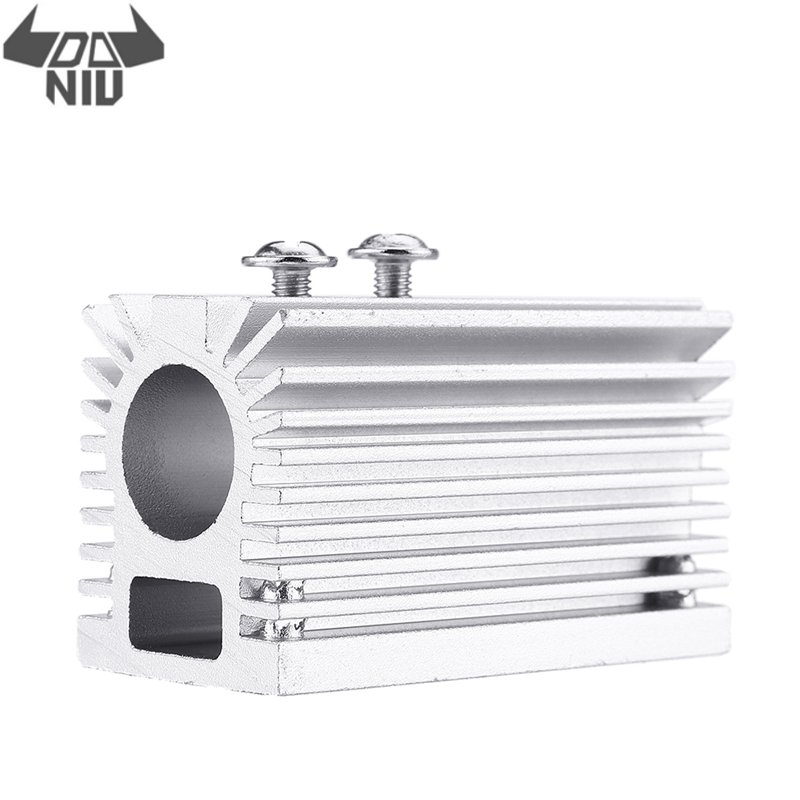 DANIU Sliver 58x22x27mm Silver 12mm Aluminum Heat Sink Groove Fixed Radiator Seat Cooling Heat Sink For 12mm Laser Diode Module