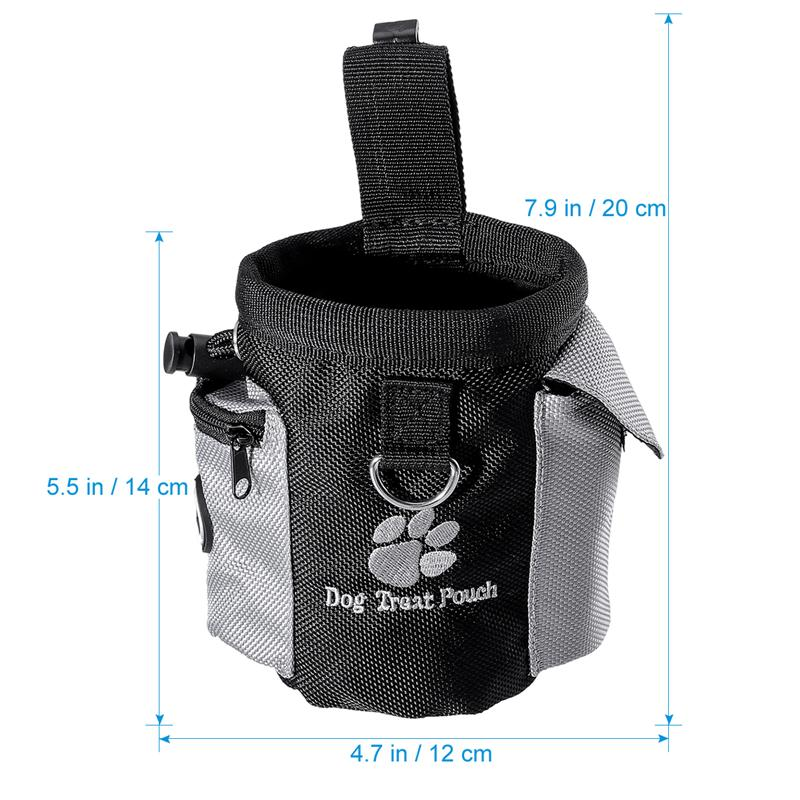 Dog Treat Pouch Pet Hands Free Training Waist Bag Drawstring Carries Pet Toys Dog Accessories Oxford Cloth Food Poop Bag Pouch 12