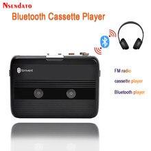Magnetofon kasetowy Bluetooth i odtwarzacz przenośny samodzielny odtwarzacz kasetowy Radio FM z funkcją automatycznego cofania odtwarzacz Bluetooth