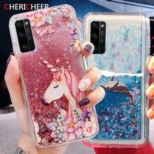 Unicorn Glitter Liquid Case For Xiaomi Redmi Note 10 Pro Max Redmi Note 10S Case Silicone Quicksand Cover Redmi Note 10 Case
