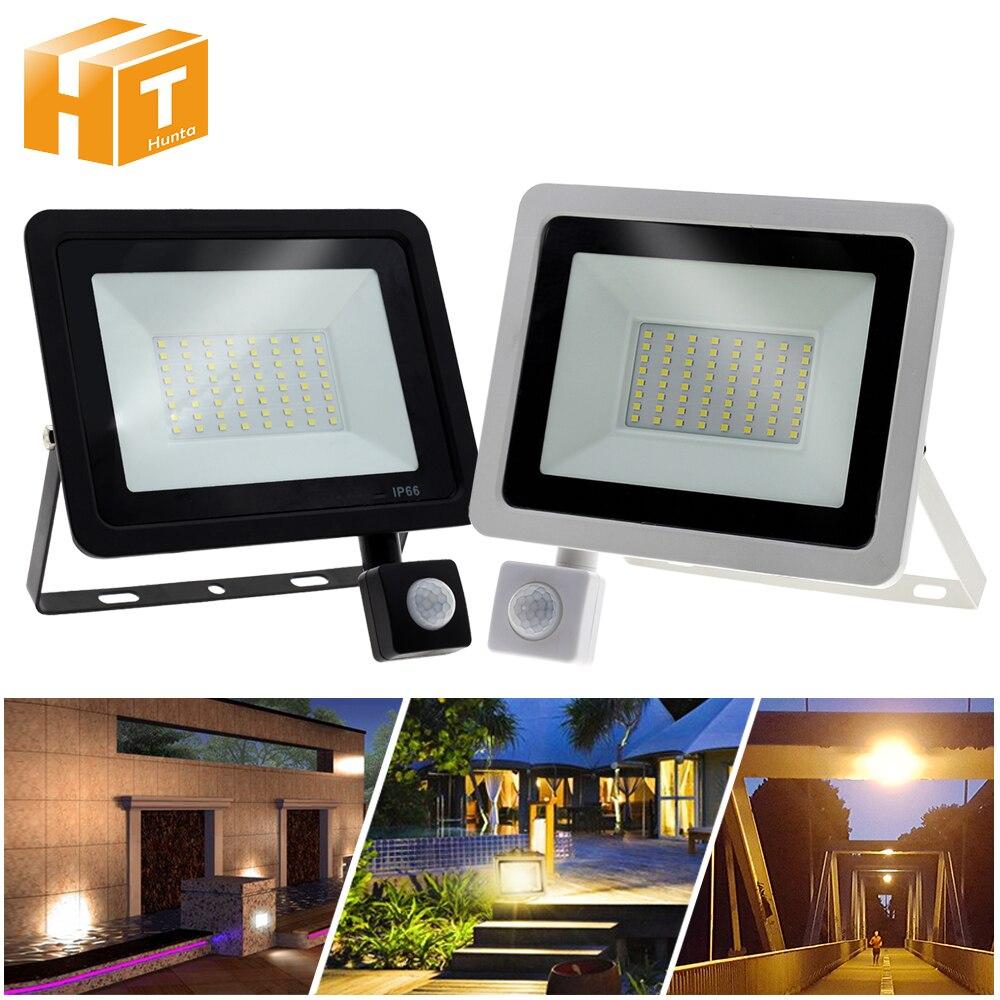 PIR Sensor LED Spotlight AC220V 10W 20W 30W 50W 100W PIR Induction Switch LED Floodlight for Doorway Garage Street Lighting