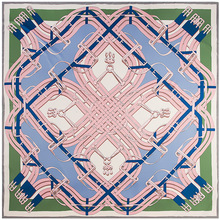 130 センチメートル新ツイルシルクスカーフバンダナベルトボタン印刷冬スカーフ高級ブランドシルクスカーフ女性卸売