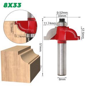Image 4 - 1pcs 8 millimetri Gambo in legno router bit Etero fresa trimmer pulizia flush trim angolo rotondo cove box bit fresa strumenti di fresatura