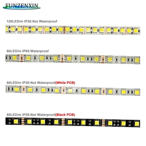 5m 5050 CCT WW+CW Led Strip  60/120leds/m With Controller Color Temperature adjustable DC12/24V Waterproof IP30/65
