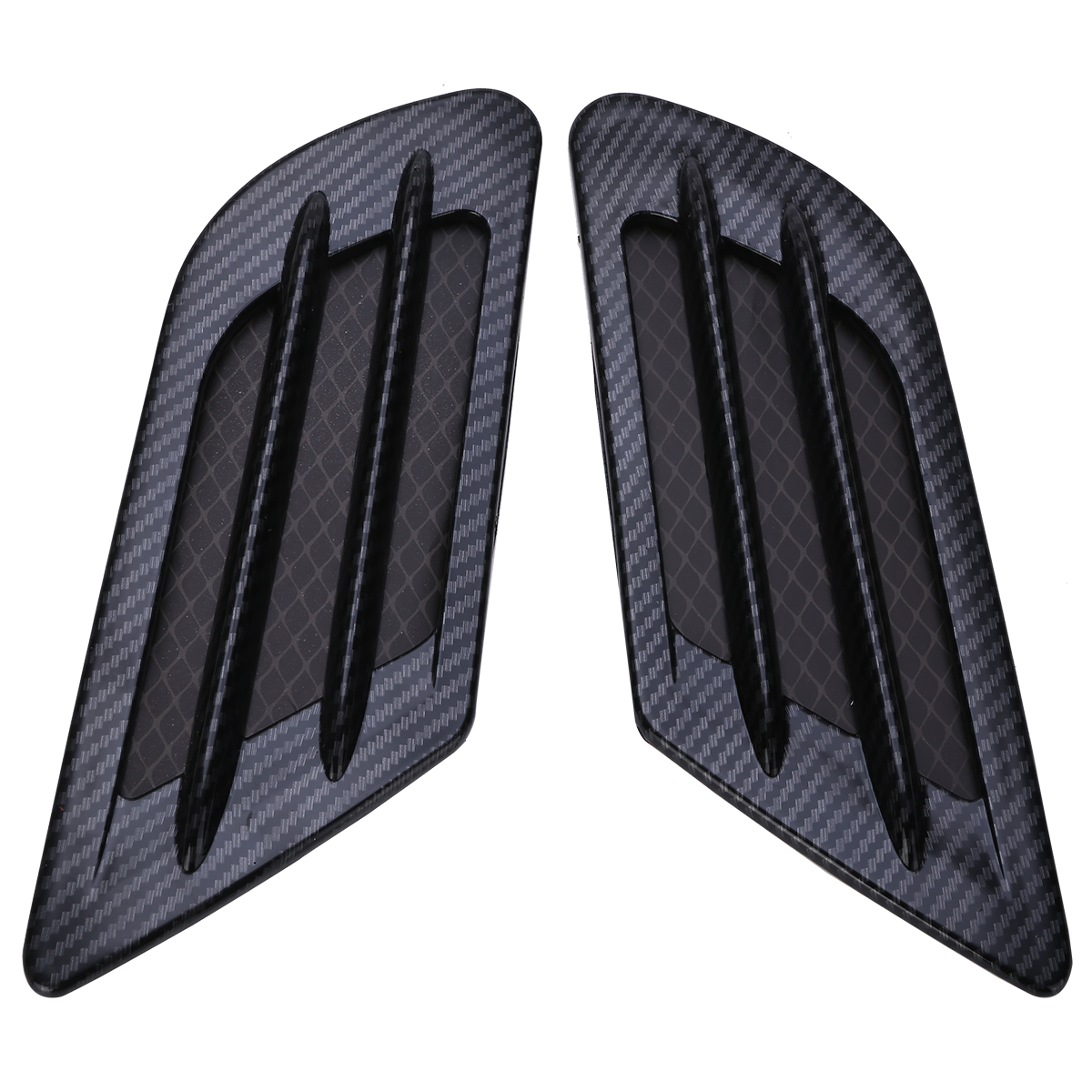 2pcs Car Styling Carbon Fiber Side Vent Air Flow Bonnet Hood Fender Sticker Decor Car Accessories