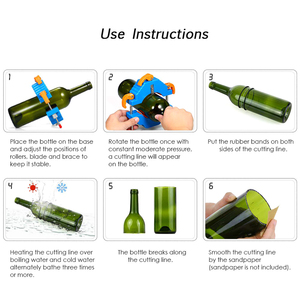 Image 5 - מתכוונן DIY לחתוך כלים מכונת זכוכית בקבוק חותך זכוכית 2mm כדי 12mm יין בירה צנצנת מיחזור חיתוך כלי אמנות קרפט Diy