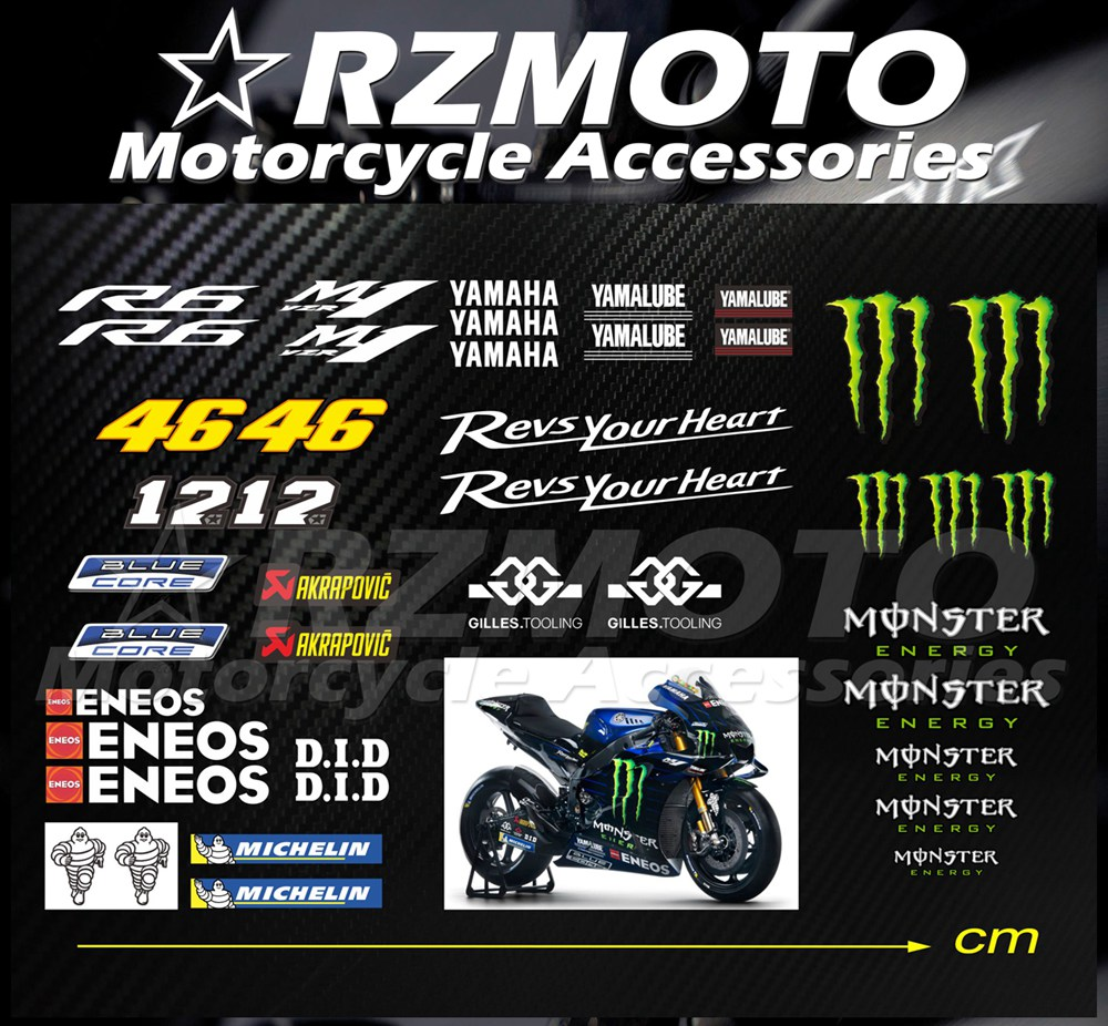 Motorcycle Tank Gas Protector Pad Sticker Fiber Rubber Decal Devil Fit For Yamaha YZF R6 1999 2000 2001 2002 2003 2004
