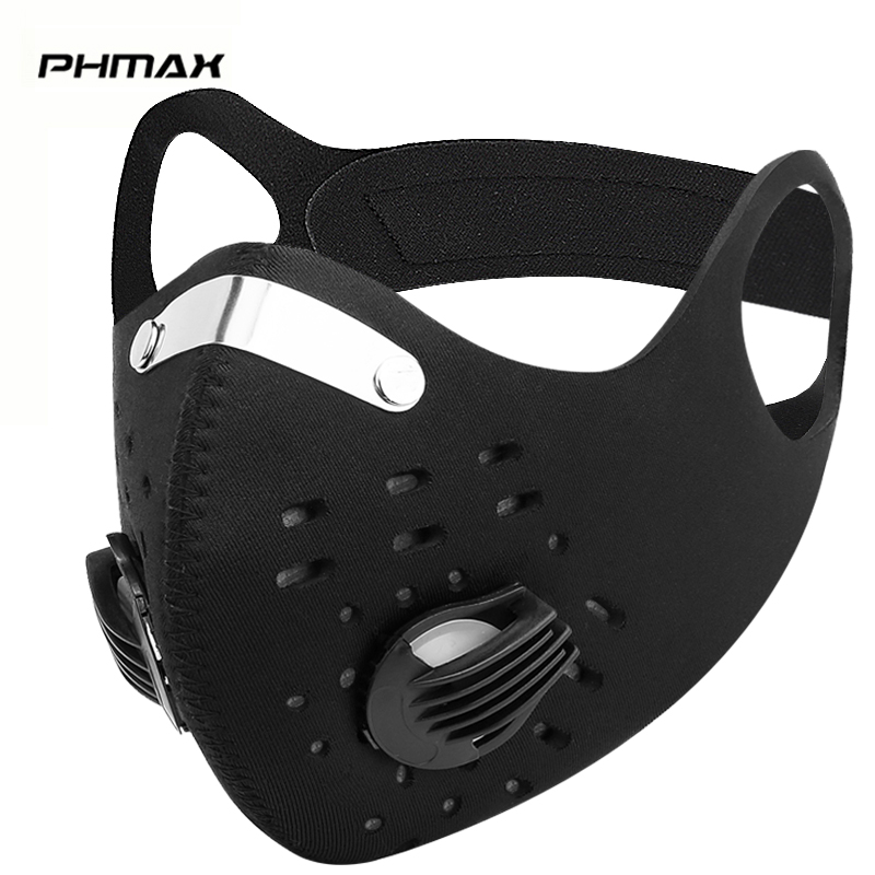 PHMAX Protective Training Mask With Earloop Dustproof Cycling Face Mask With 2 KN95 Filter MTB Bike Running Cycling Mask