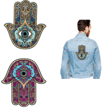 Poemyi Hand Fatima Iron on Patches For Woman T-shirt Clothing Heat Transfer Accessories Diy Patch Thermal Stickers Applique R