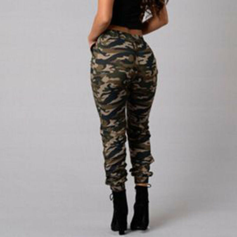 1pc Autumn Outdoor Camping Womens Camo Trousers Casual Hip-hop Military Army Combat Camouflage Pants S-2XL Plus size pants hot 11