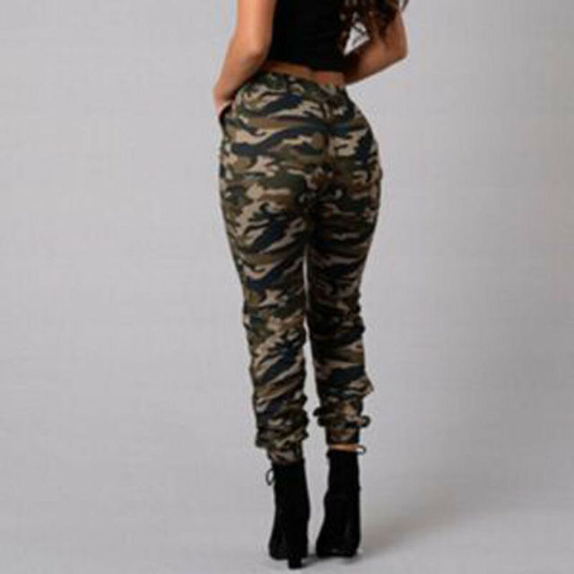 1pc Autumn Outdoor Camping Womens Camo Trousers Casual Hip-hop Military Army Combat Camouflage Pants S-2XL Plus size pants hot 5