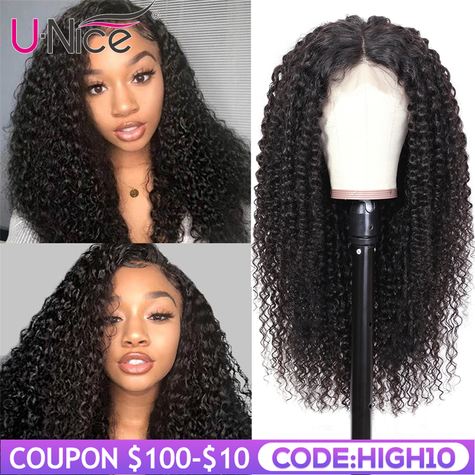 Unice Hair 360 Lace Frontal Wig Brazilian Curly Human Hair Wig Pre Plucked Remy Lace Front Human Hair Wigs