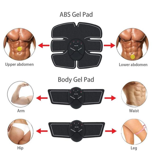 EMS Wireless Abdominal Muscle Stimulator Smart Trainer Muscle Toning Belts Electric Weight Loss Massager Body Slimming Unisex 2