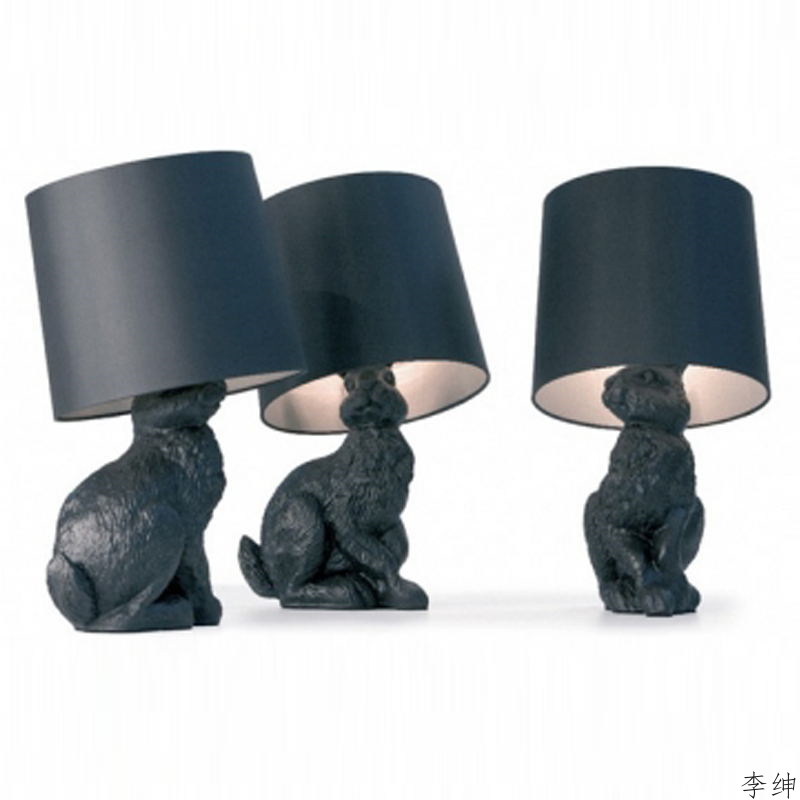 animais modernos coelho led candeeiros de mesa nordic quarto lampada cabeceira sala estar decoracao luzes da