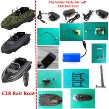 7.4v 5200mah bateria/controle remoto/recevier/alça/carregador/motor para c18 rc controle remoto pesca isca barco peças de reposição c18