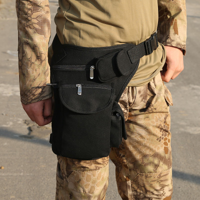 New Arrival Men Canvas Drop Waist Bags Leg Pack Bag Men Belt Bicycle And Motorcycle Women Money Belt Pack Unisex Work Black Pack