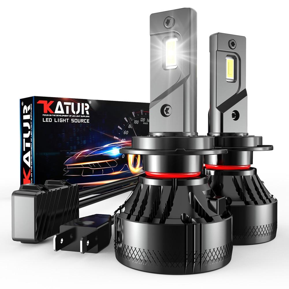 Katur F5 светодиодный головной светильник s лампы Противотуманные фары светильник H4 H7 H1 Автомобильный светодиодный налобный фонарь 110W 20000LM H11 H8 ...