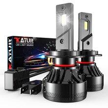 Katur f5 led faróis lâmpada luz de nevoeiro h4 h7 h1 carro led farol 110w 20000lm h11 h8 9005 9006 9012 lâmpadas led h7 farol