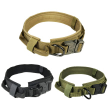 Tactical Dog Collar Nylon Adjustable Military Dog Collars with Control Handle Training Pet Cat Dog Collar For Medium Large Dogs цена 2017