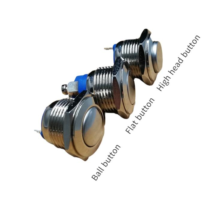 16mm interruptor de metal buttonswitch acessórios remontagem automóvel reset alta esférica plana