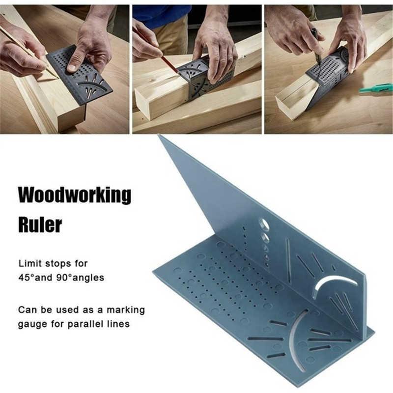 Lavorazione del legno Righello 3D Mitra Angolo di Calibro di Misurazione Formato Quadrato Strumento di Misura
