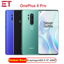 Global rom oneplus 8 pro 5g smartphone snapdragon 865 6.87 8 8g 128g 120hz display fluido 48mp quad 513ppi 30w carregamento sem fio