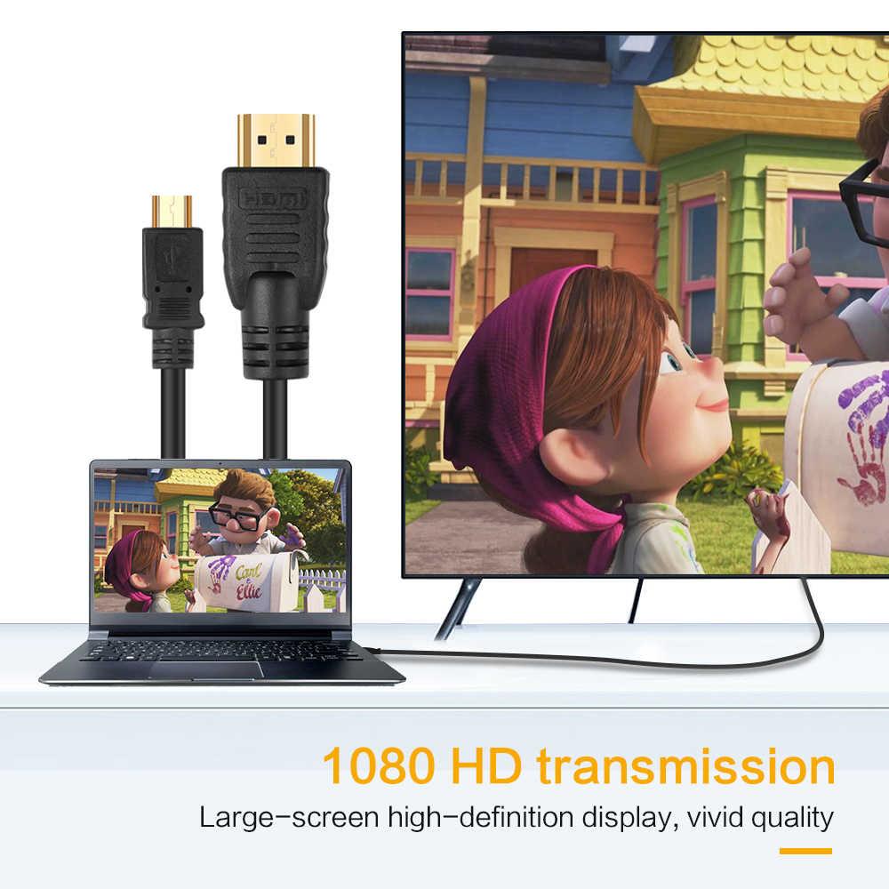 Universal 1080P 1.5 M Micro USB untuk HDMI Kabel HDTV Adaptor Hitam untuk MHL untuk Samsung Galaxy S2 Tidak untuk S3 S4 S5 Htc Lg Sony